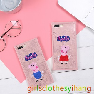 Iphone Xr X Xs Max 7 8 6 6s Plus Peppa Pig Embroider Phone Case