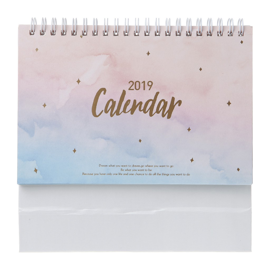 2019 New Style 2019 New Japanese Style 2019 Desktop Standing Coil Paper Calendar Memo Daily Schedule Table Planner Yearly Agenda Organizer Calendars, Planners & Cards