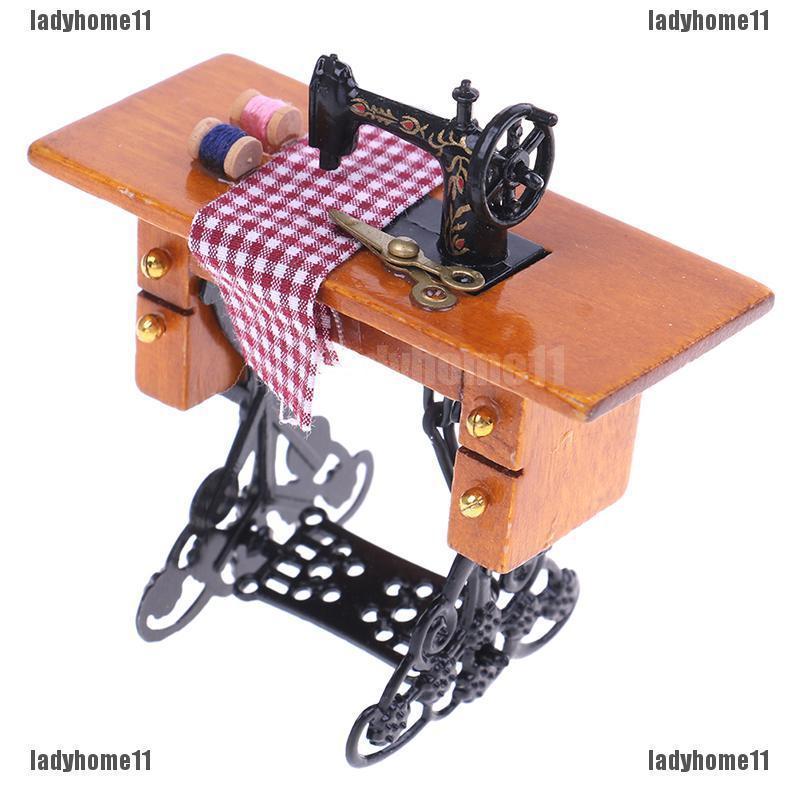 gaixample.org White lyq Dollhouse Sewing Machine 1/12 Dollhouse ...