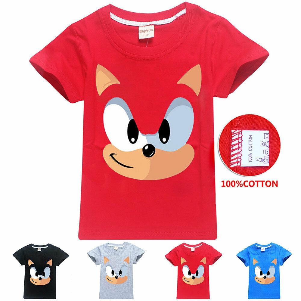 Sonic The Hedgehog Children T Shirt Kids Boys Girls Cotton Top Tee Birthday Gift