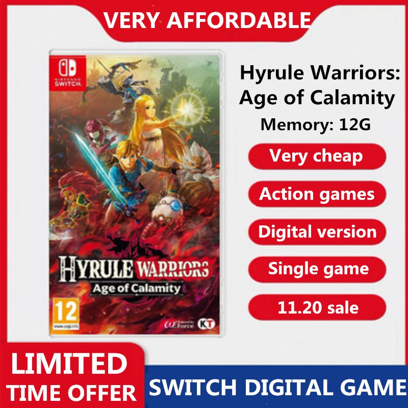 Nintendo Switch Hyrule Warriors Age Of Calamity Digital Game Download Shopee Singapore