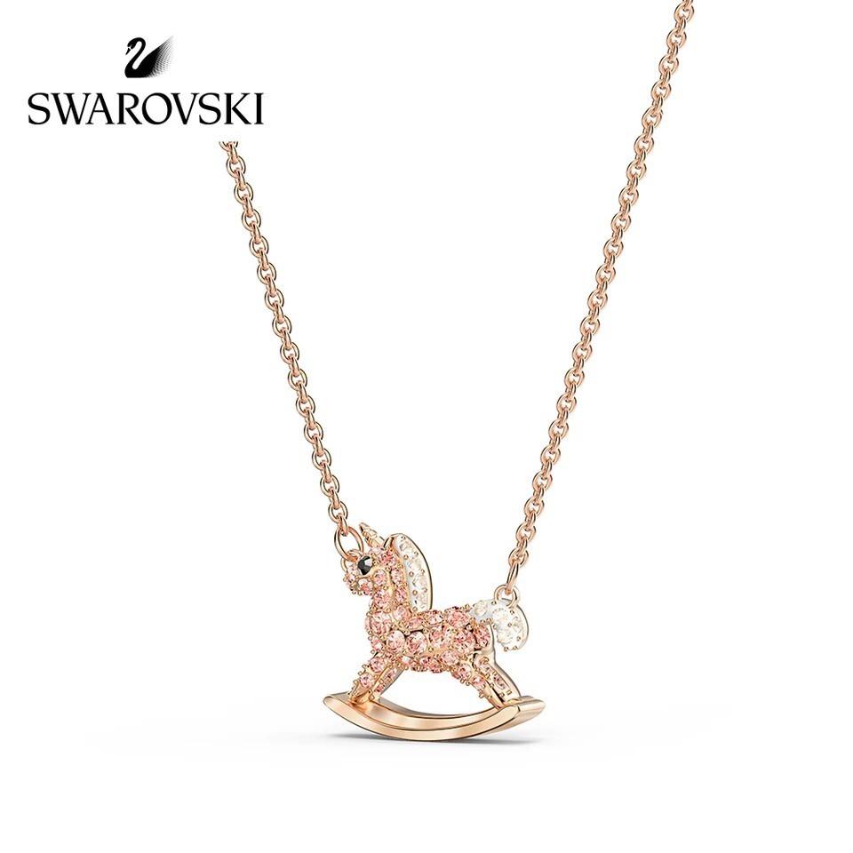Moon1 Sg Swarovski Crystal Sweet Unicorn Pendant Cute Fashion Romantic Female Necklace Girlfriend Gift 5516455 Shopee Singapore