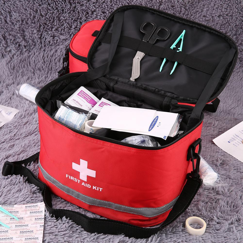 d20f188313 Sports Camping Home Medical Emergency Survival First Aid Kit Bag Outdoors