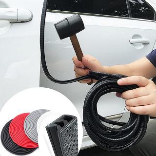 HOTEU 10M Car Door Edge Guards U Shape Edge Trim Rubber Seal Protector Car Protection Door Edge Anti Collision Strips Carbon Fiber Seal Accessories