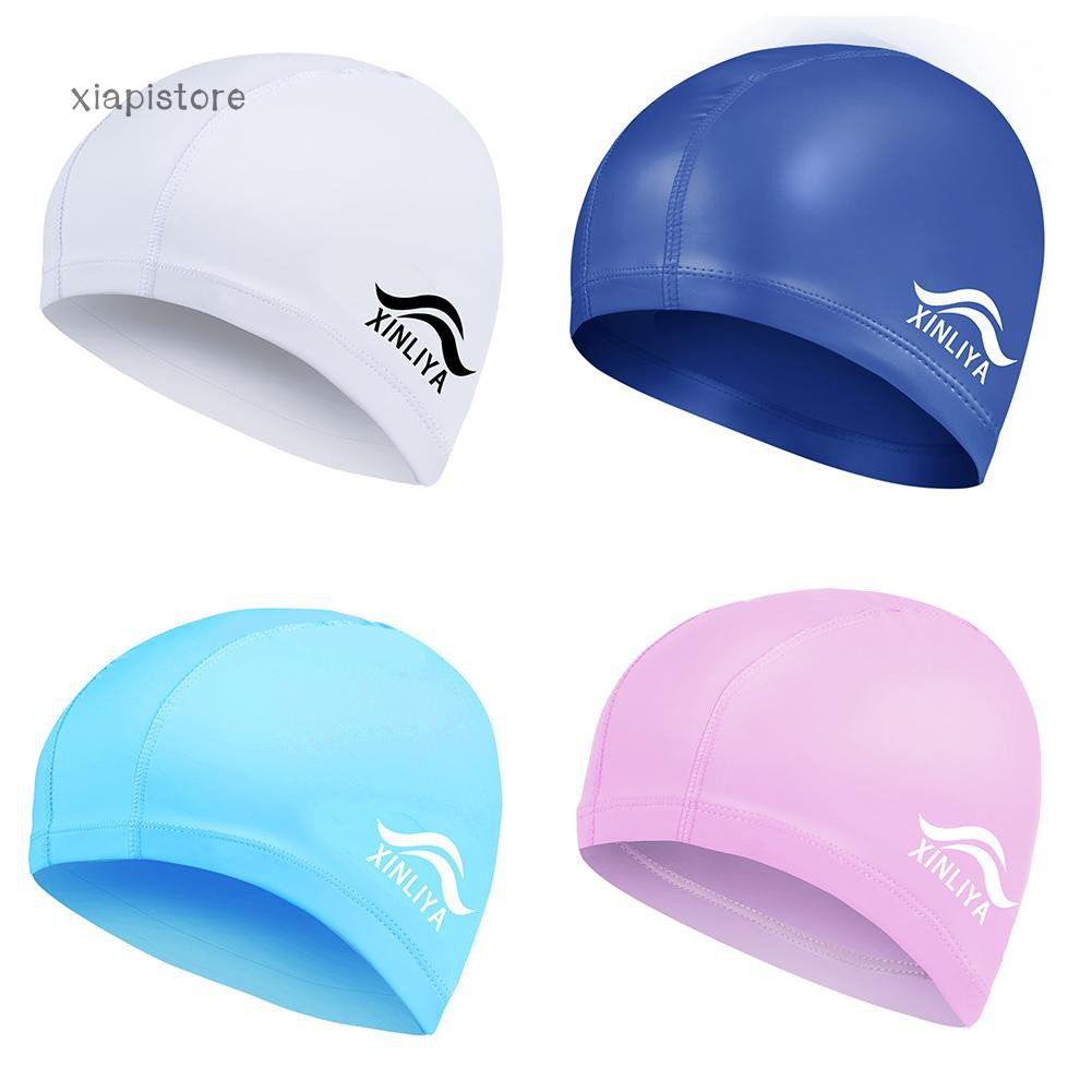 829a4099538 ProductImage. ProductImage. Fashion Men Women Faux Leather Waterproof Swimming  Cap Hair Ears Protection Hat