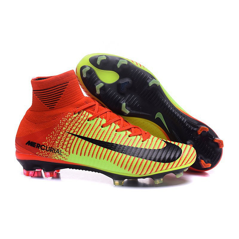 expedido Posicionamiento en buscadores educar  Specials Nike Mercurial Superfly V FG ACC High Football Shoes Soccers Red  Yellow | Shopee Singapore