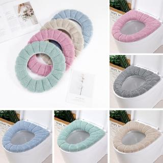 WC Cloth Soft Toilet Washable Bathroom Warmer Seat Lid Cover Pads RandoM  Color | Shopee Singapore