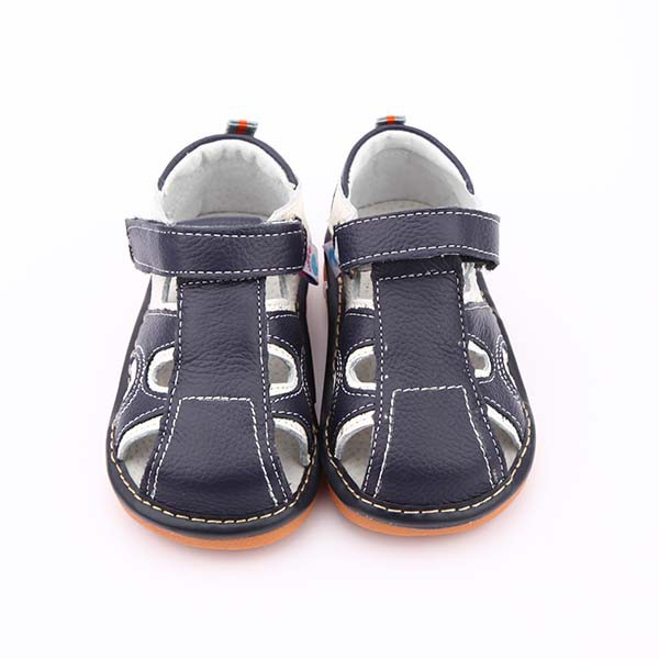 Freycoo - Navy Arthur Squeaky Toddler Shoes