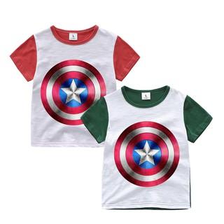 Superhero kids clothes t-shirt top blouse short sleeve