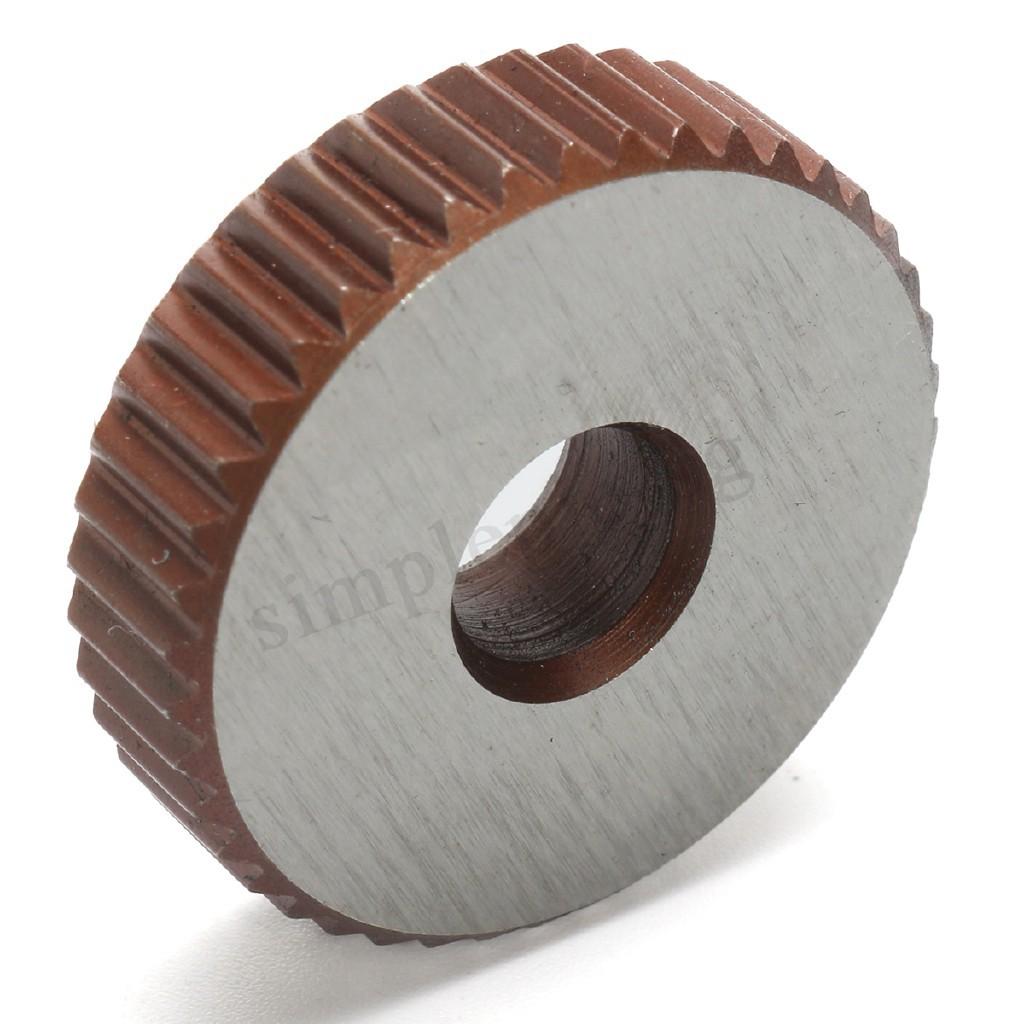 7X Single Wheel Straight Linear Knurling Knurler Tool Set 0.5mm 1.5mm 2mm Pitch