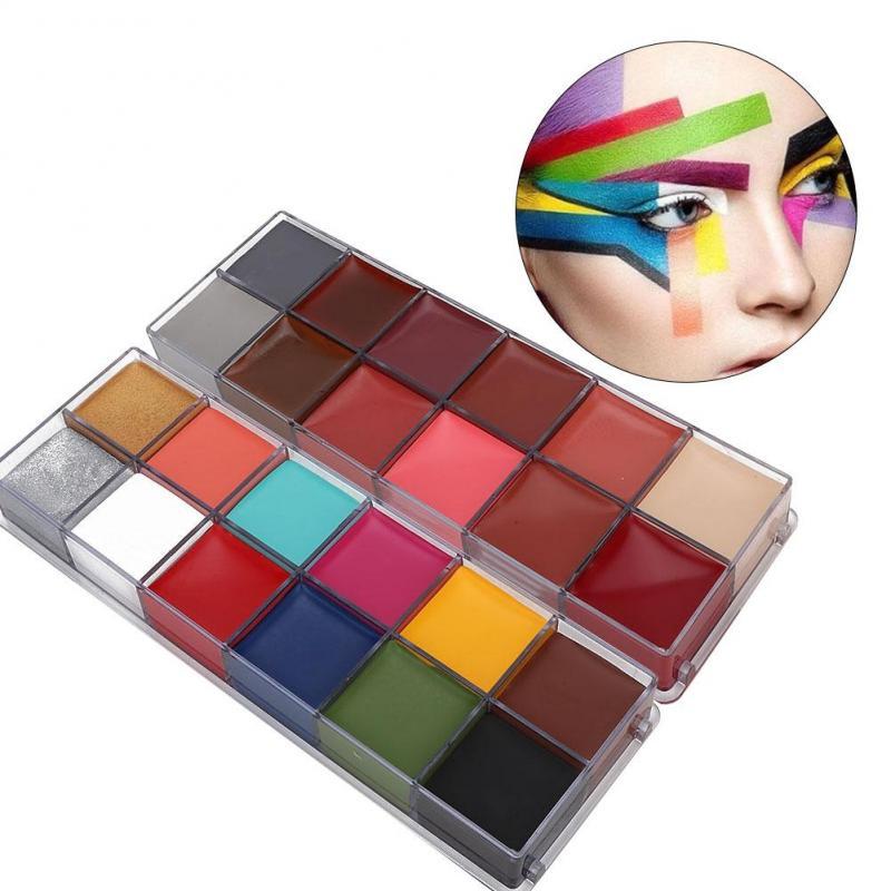 Yuhenshop 12 Colors Body Art Paint World Cup Halloween Drama Makeup Face Body Painting Shopee Singapore