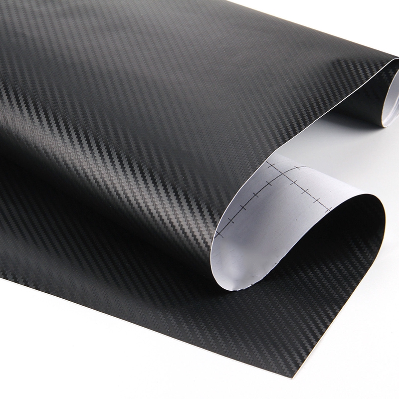 50x200cm 3D Matt Black Carbon Fiber Car Vinyl Foil Film Wrap Roll Sticker Decal