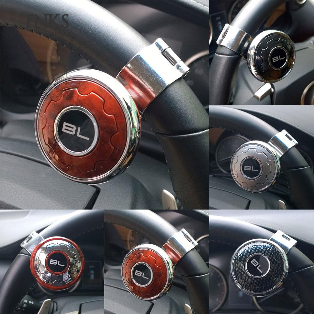 Auto Car Steering Wheel Aid Spinner Spin Clamp Knob Ball Booster Black 85*55mm 100% High Quality Materials Electric Vehicle Parts