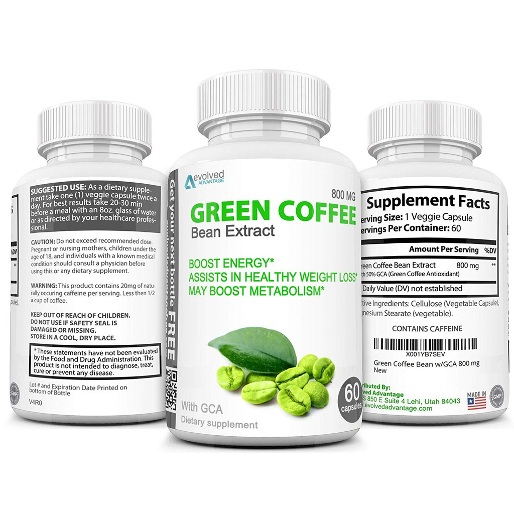 Green Coffee Bean Extract Weight Loss Supplement Max Strength
