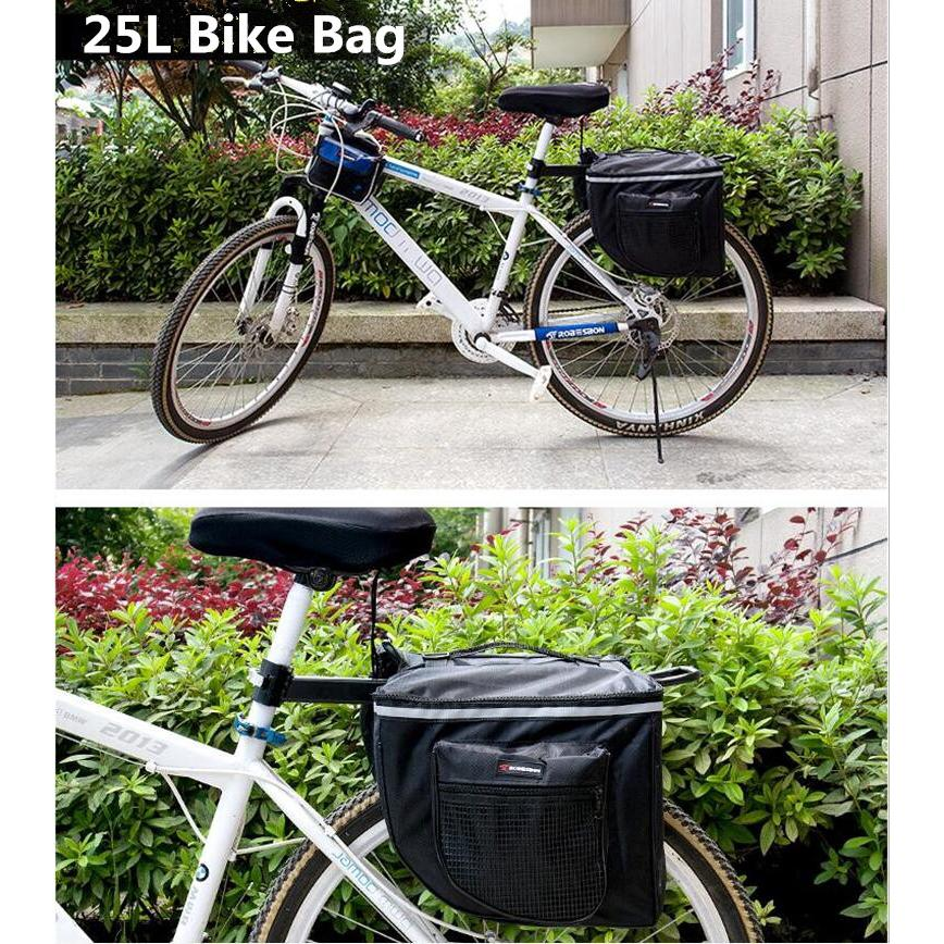 Cycling Bike Bicycle Rear Rack Bags Seat Trunk Saddle Durable Storage Pouch