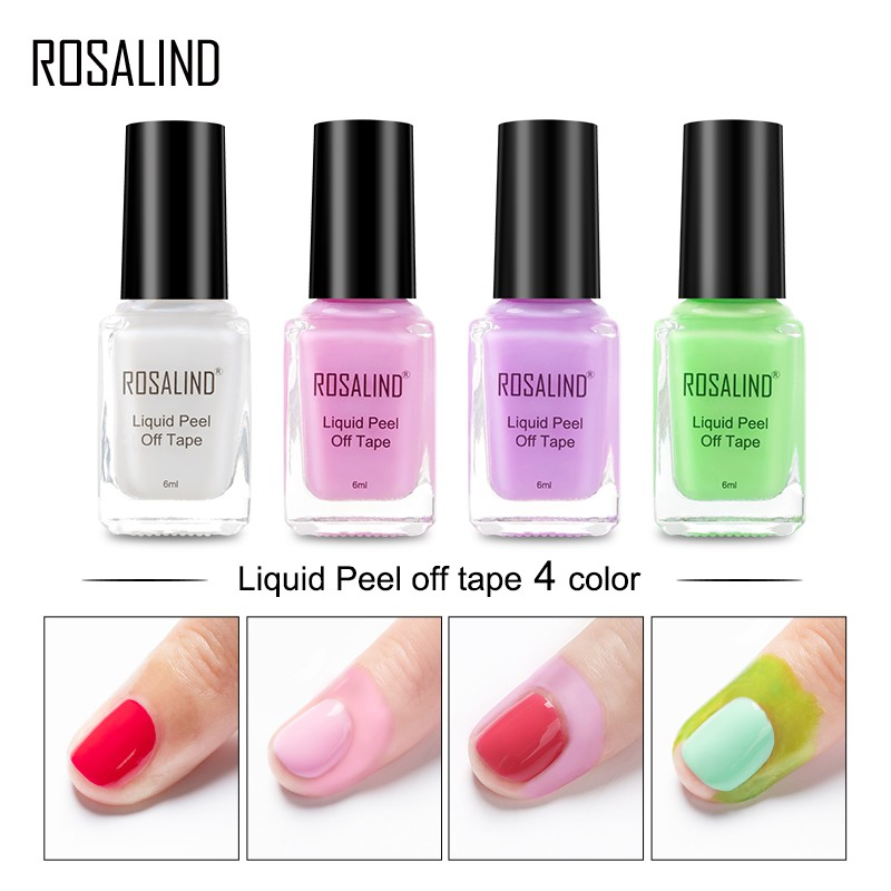 Rosalind Peel Off Nail Latex Liquid Tape Finger Skin Protected Glue Nail Art