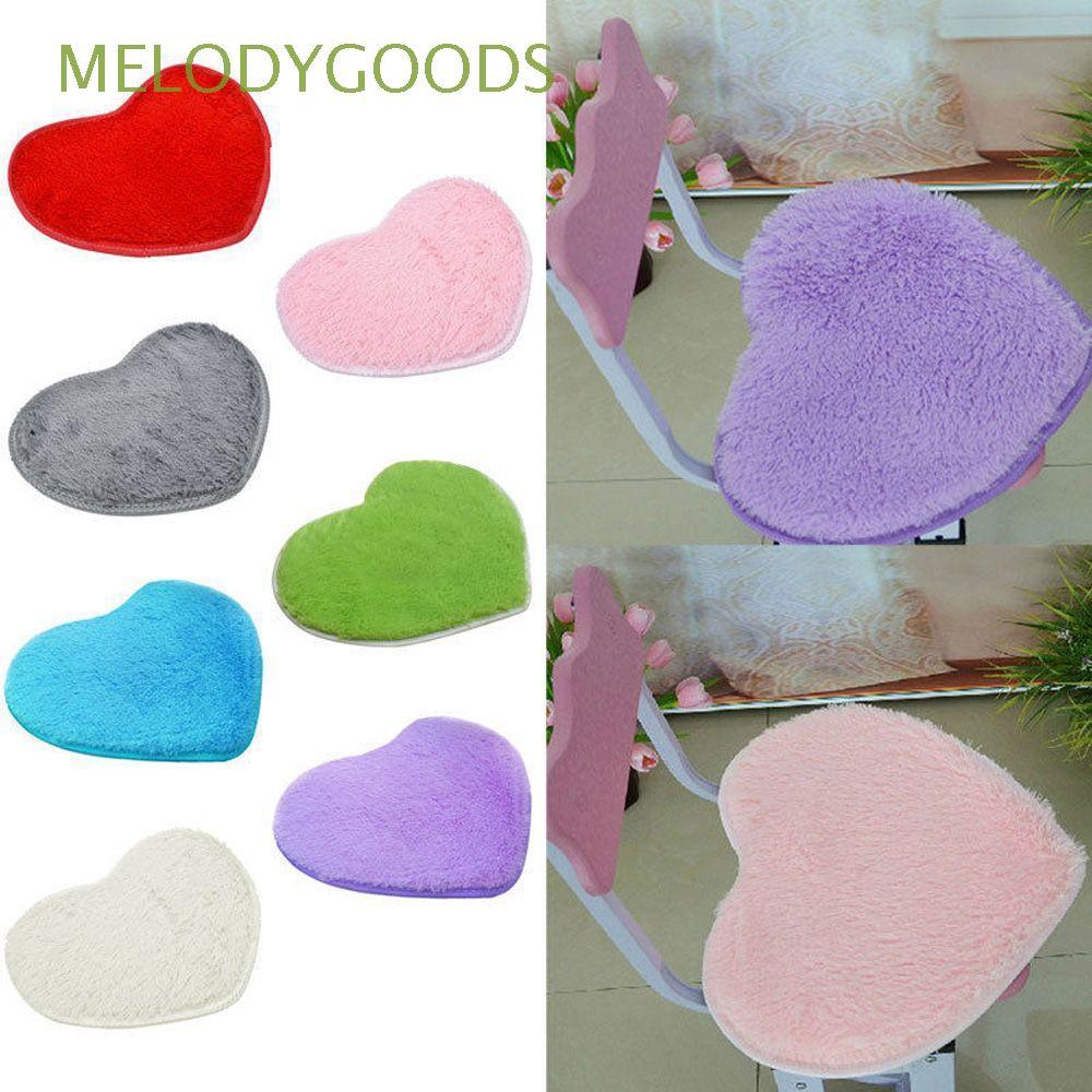 Fashion Plush Nonslip Soft Heart Mat Flannel Carpet Memory Foam Bath Rug