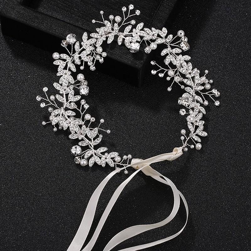 1//6//12pcs Pearls Wedding Hair Vine Crystal Bridal Accessories Diamante Headpiece