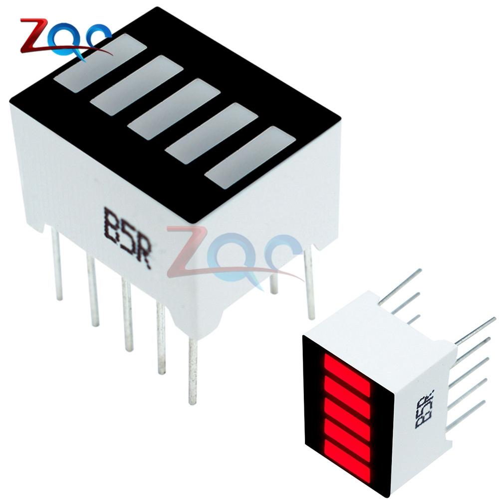 5pcs New 8-Segment Red Color Bar LED