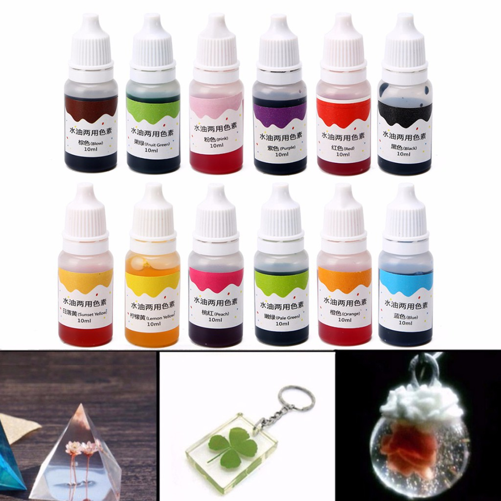 Toys & Hobbies Dyeing Pigment Slime Crystal Mud Uv Resin Dyeing Water Oil Dual Use Pigment Diy Craft