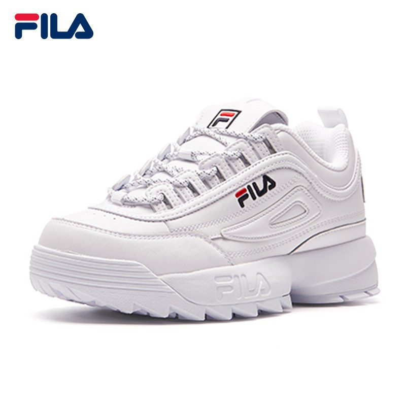 Original FILA Female DISRUPTOR II Leather Shoes