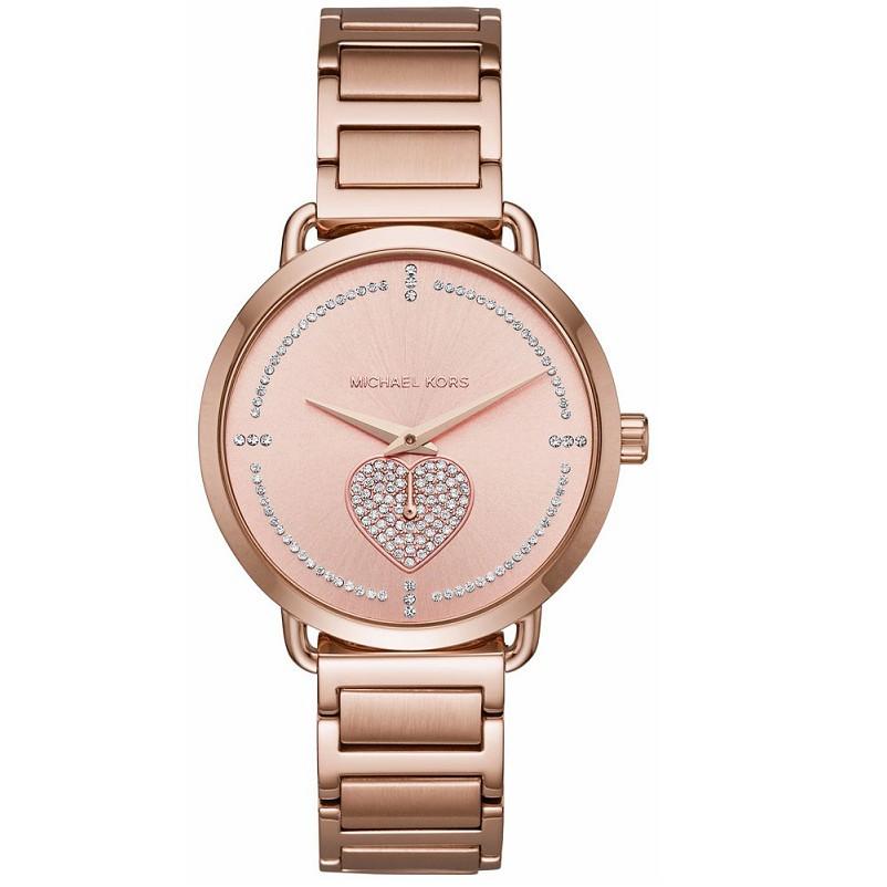 2bbd295b4fa2 Michael Kors Portia Quartz Diamond Accent MK3843 Womens Watch ...
