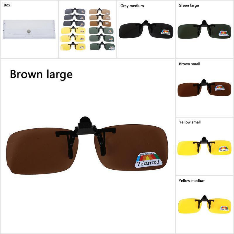 [Ready Stock 0827] Clip on Polarized Day Night Vision Flip up Lens Driving Glasses Sunglasses