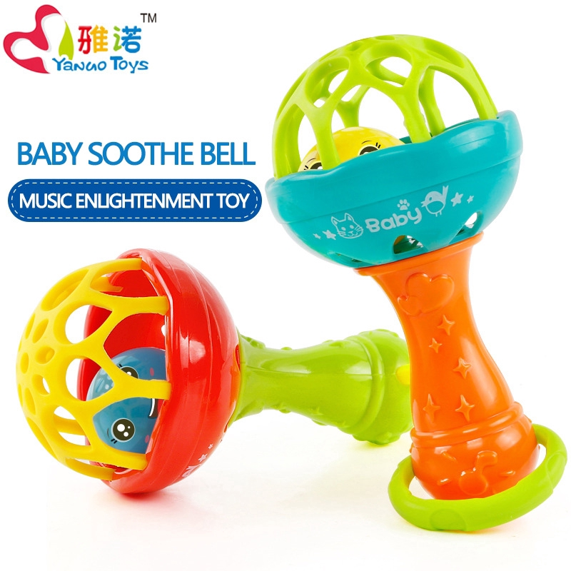 Baby Soothe Bell Hand Grasp Ball Toy Newborn Baby Early Music Toy
