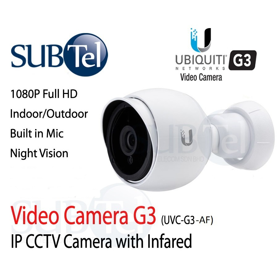 Ubiquiti UVC-G3-AF or UVC-G3-Bullet - Latest Unifi Video Camera - 2019  Bullet Indoor/Outdoor Full HD CCTV Cam