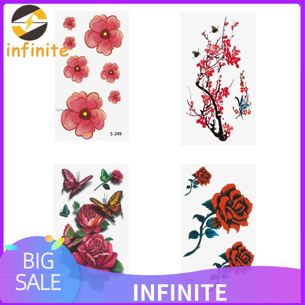 3d Flowers Tattoo Stickers Waterproof Temporary Fake Body Art Tattoo Decals 8y F Shopee Singapore