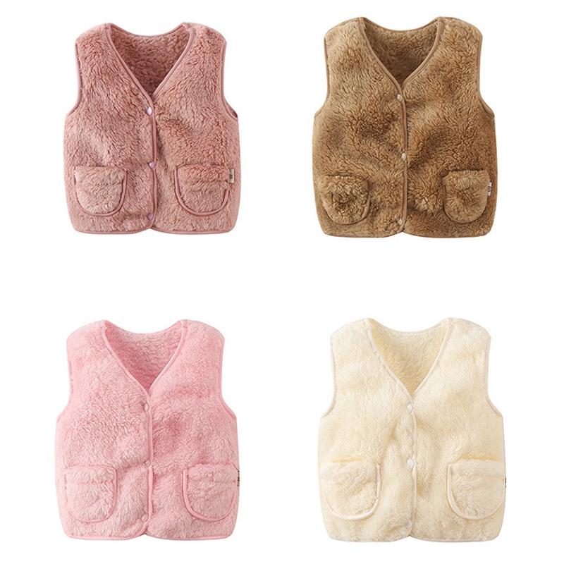 baby clothes boys girls winter clothes warm fleece waist coat outerwear