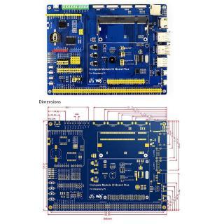 Waveshare Compute Module IO Board with PoE Composite Breakout Board Raspberry Pi