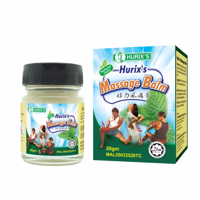 Hurix's Massage Balm (20g) NEW PACKAGING➡️Pain Relief Massage Balm relief of muscular ache, flatulence, stomach ache, itchiness and itch associated with insect bites.