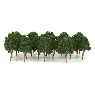 20pcs Miniature Tree Models Train Scenery Railroad Supplies