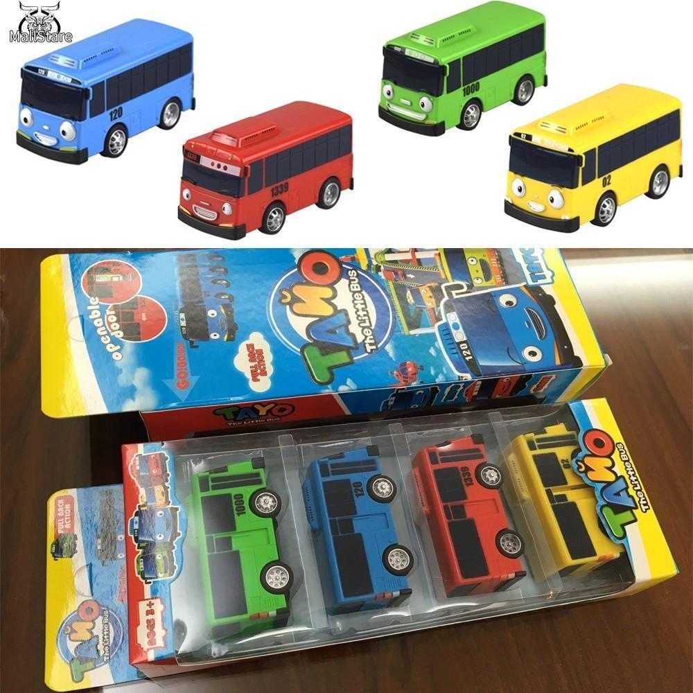 Toy N Tayo The Little Bus Pull Back Car Heart Shopee Singapore Mainan Garasi 1 Set 4 Pcs