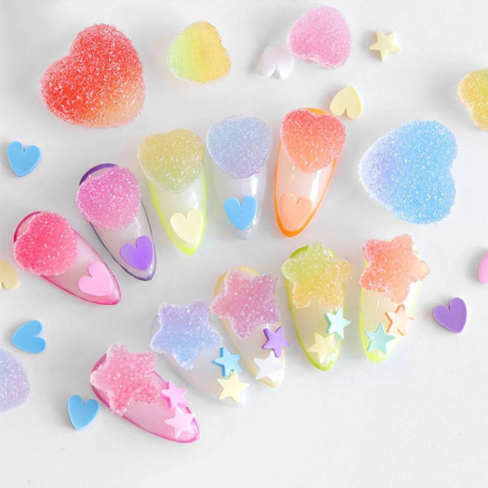 Gummy Nail Decoration 3d Glitter Nail Art Decoration Beauty Phone Case Invitation Card Body Art Decoration Shopee Singapore