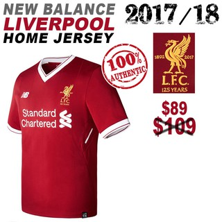 classic fit ff622 9fb52 Authentic Liverpool FC Mens Home Short Sleeve Soccer Jersey ...