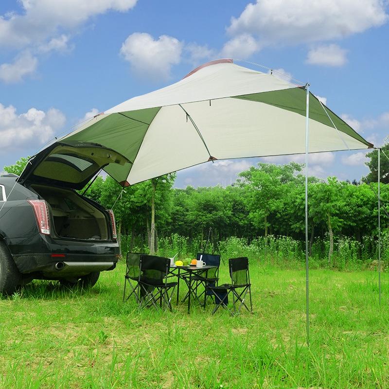 Portable Sun Shelter Waterproof Tarp Awning Auto Side Canopy Beach Camping Patio