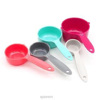 Blesiya Stainless Flour Scoop Ice Scoop Metal Sugar Scoop Sweet Scoop 4pcs