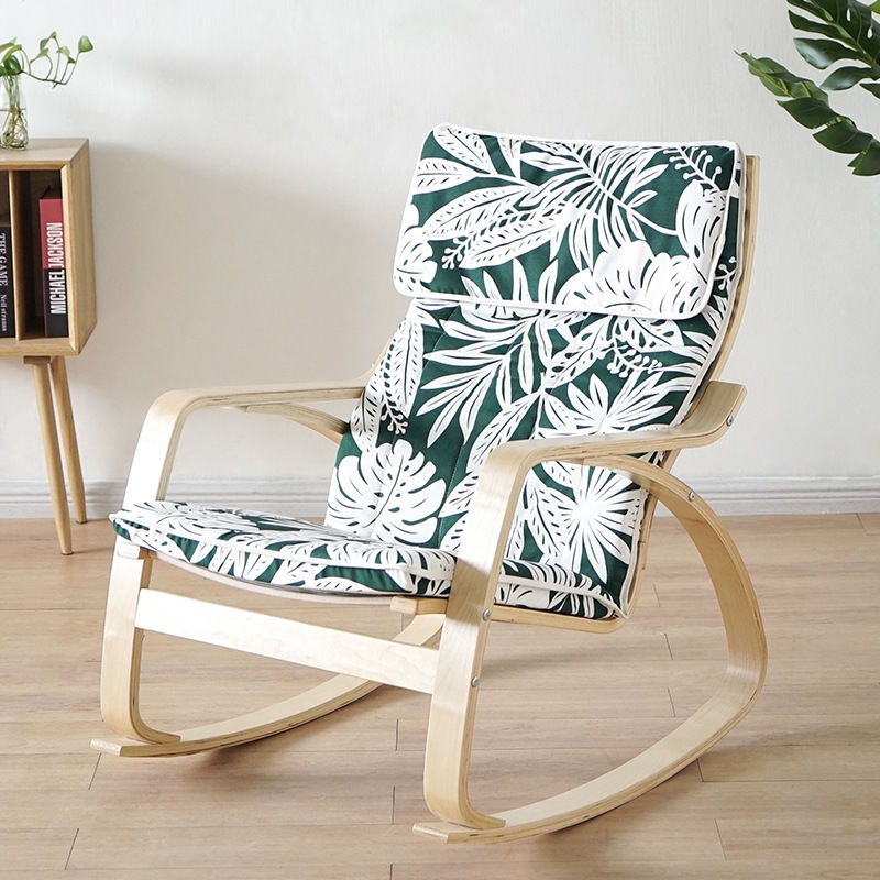 Ikea Pello Home Solid Wood Recliner Lounge Pelo Single Sofa Armchair Old Person Rocking Chair Pregnant Woman Shopee Singapore