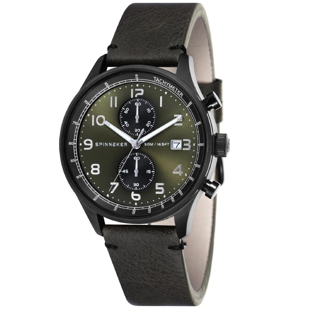72a1f12af72 Spinnaker Bernard SP-5048-03 Men s Champagne Nylon Nato Strap Watch ...