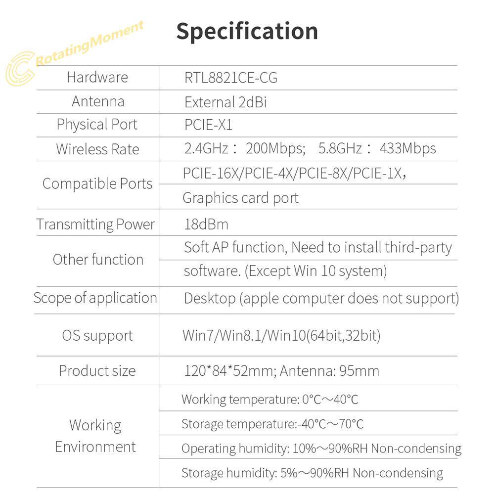 ta✲COMFAST 600Mbps WiFi PCI-E X1/X4/X8/X16 Graphics Card