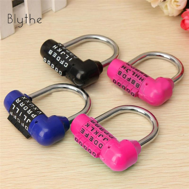 Multicolor 5 Letter Code Combination Dial Password Padlock Safety Lock