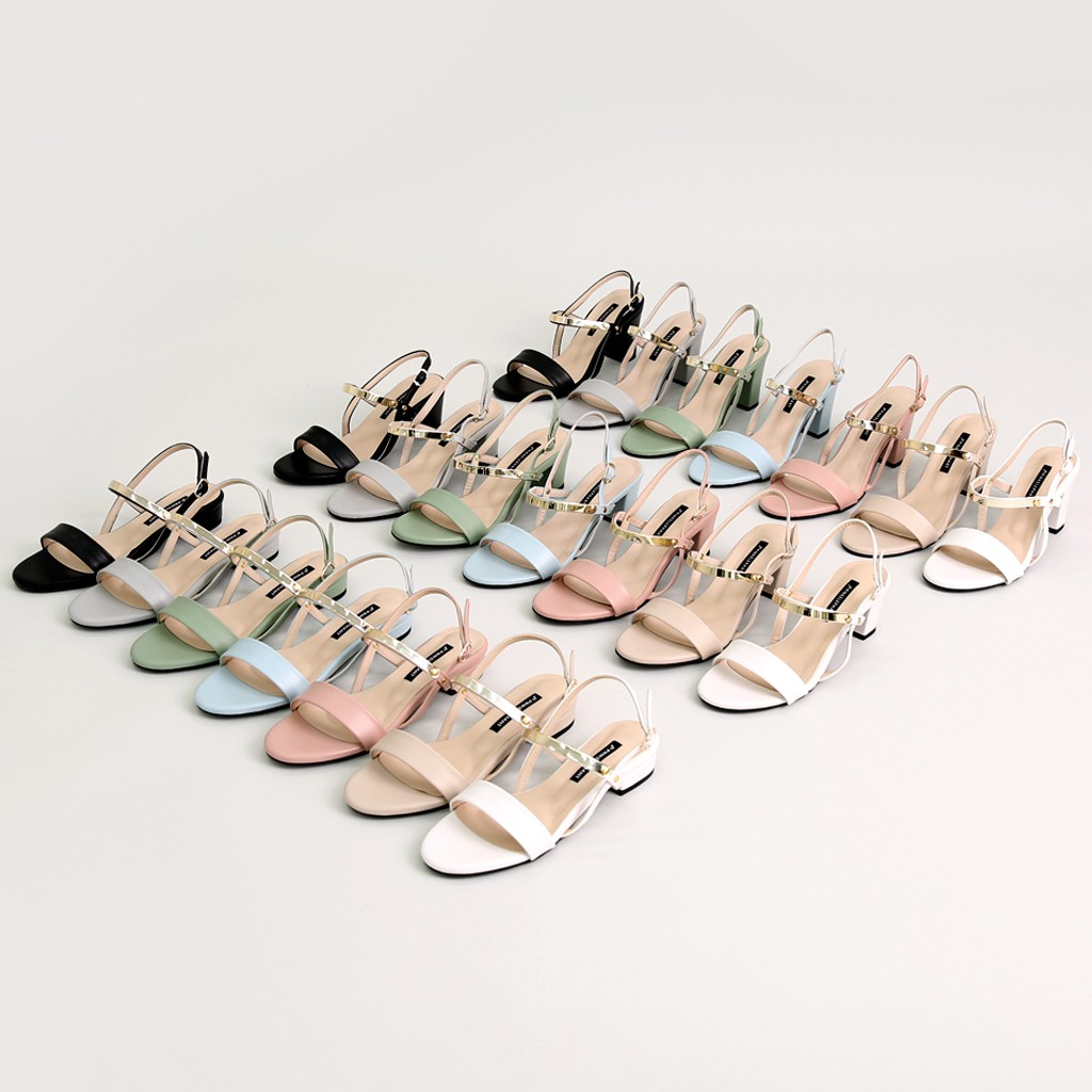 [PINKELEPHANT] Twinkle Gold Sandals(4cm)_441992
