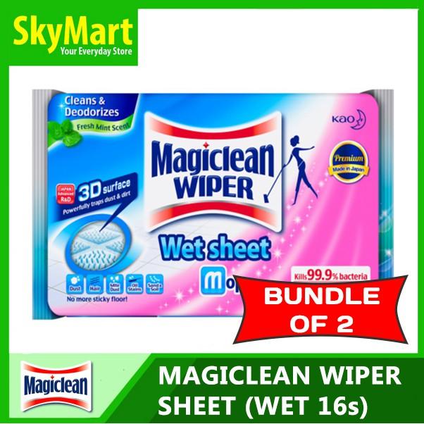 a2213ab27458 [Bundle of 2] Magiclean Wiper Sheet Wet 16s x 2