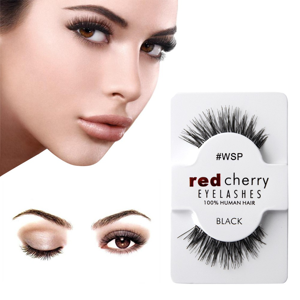 Red Cherry Lashes 100 Human Hair False Eyelashes Top Quality Fake