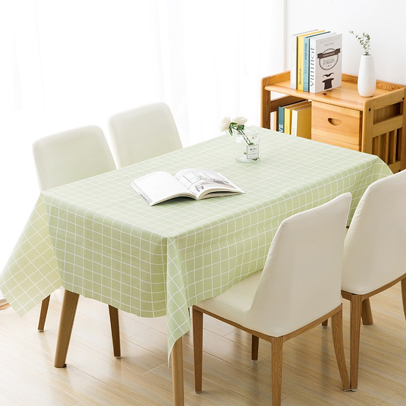 Plaid Waterproof Wipe Clean Pvc Table Cloth Oilproof Dining Kitchen Table Cover