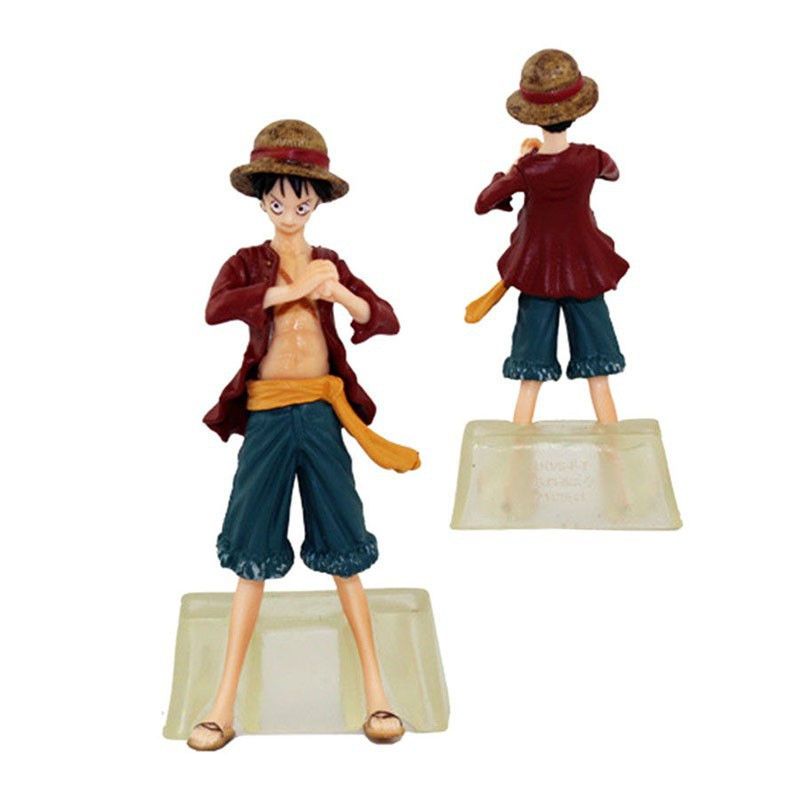 New Anime One Piece 10pcs New World LUFFY NAMI 1.57-5.12in Figures Set in Box