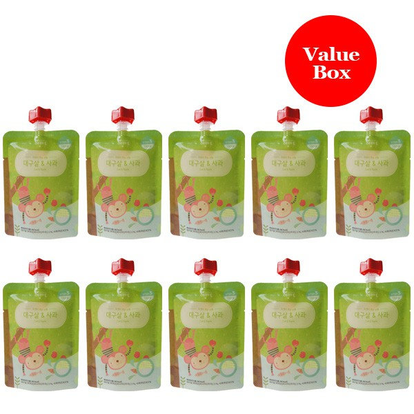 Evertto - Value Box of 10 x Cod fillet & apple por