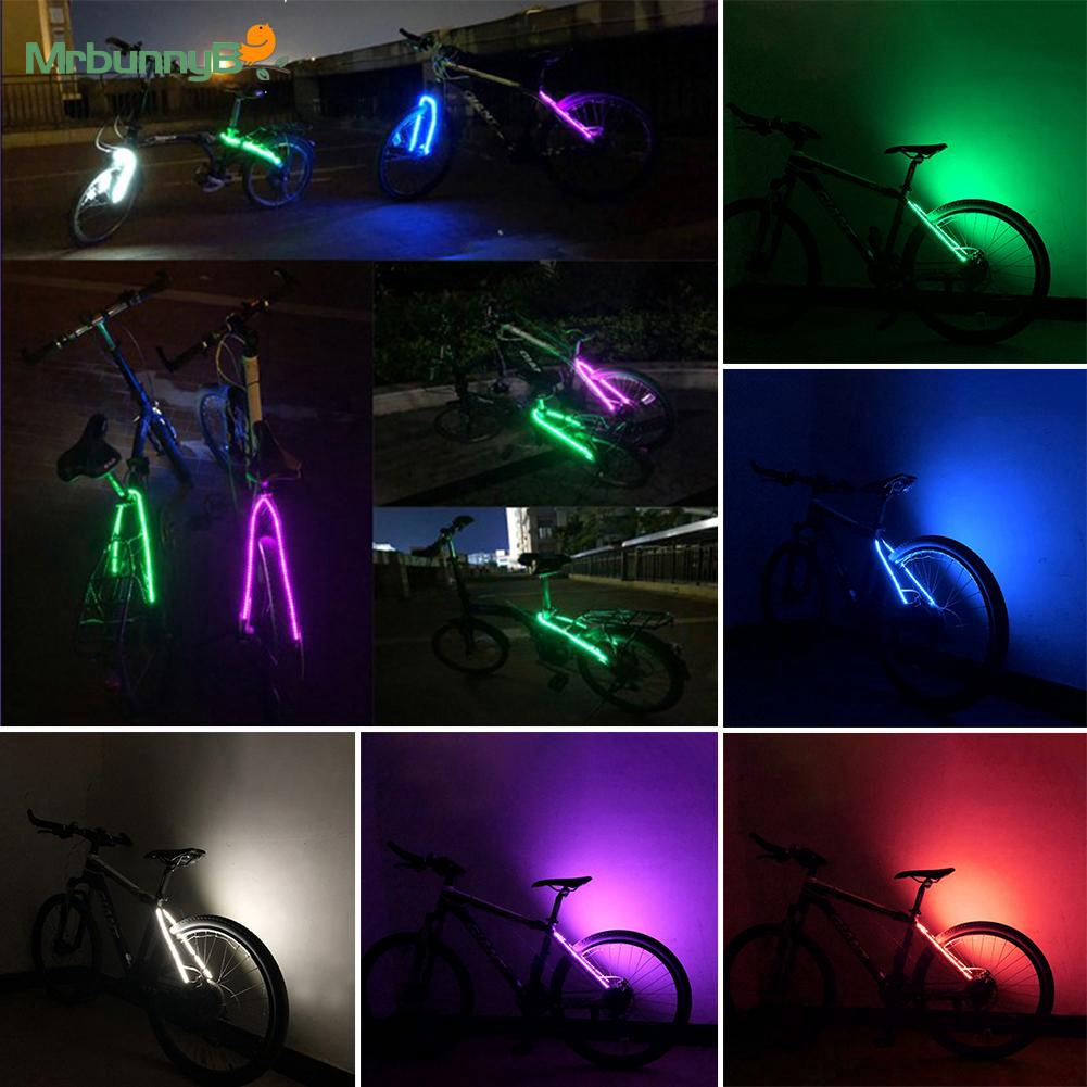 Road Bike Bicycle Front Rear Fork LED Strip Light Night Cycling Security Lamp